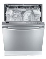 miele dishwasher with door open