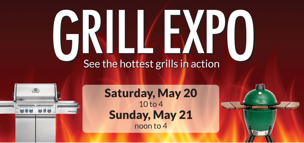 Grill Expo: Saturday May 20 from 10-4 and Sunday May 21 from 12-4 at Warners' Stellian