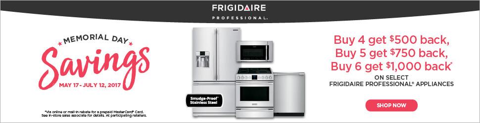 Frigidaire Professional Memorial Day Savings Rebate