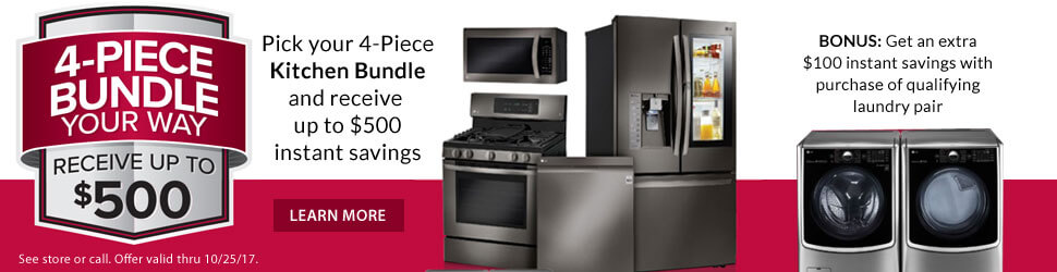 LG Fall Kitchen Bundle Offer - Banner