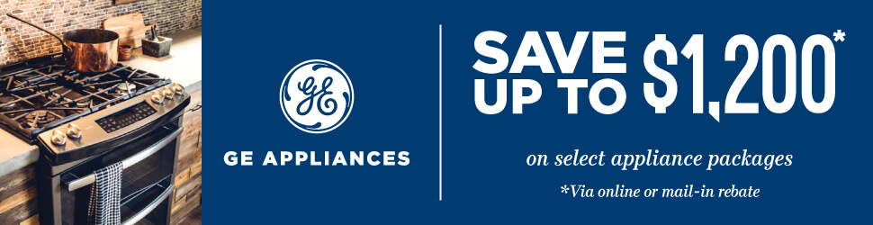 GE Appliances Up to $1200 Kitchen Package Rebate