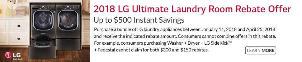 LG Ultimate Laundry Room Bundle