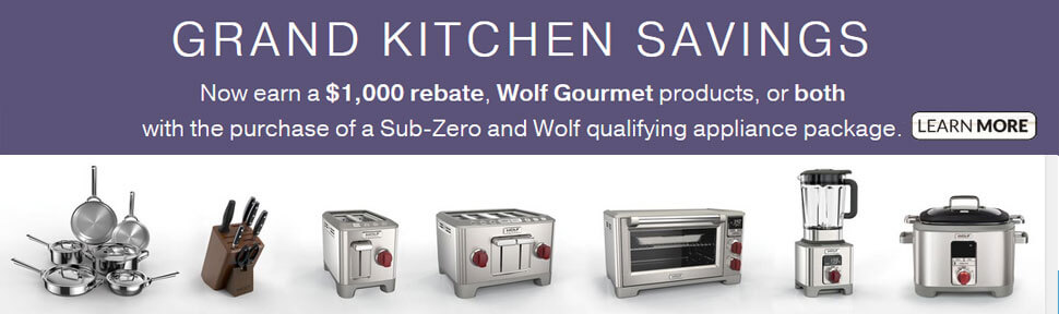 Grand Kitchen Savings - Earn a $1,000 Rebate - Learn More