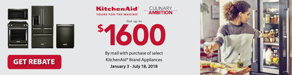 KitchenAid Culinary Ambition Save Up to $1600 Rebate Offer