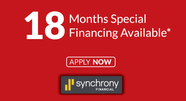 18 Month Special Financing Available - Click to Apply