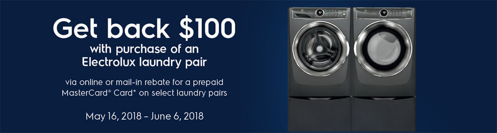 Electrolux Get $100 Laundry Pair