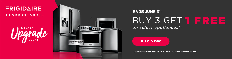 Frigidaire Professional Buy 3 Get 1 Free Offer
