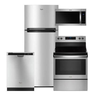 Ft. Top Freezer Refrigerator, Electric Range, Microwave U0026 Dishwasher