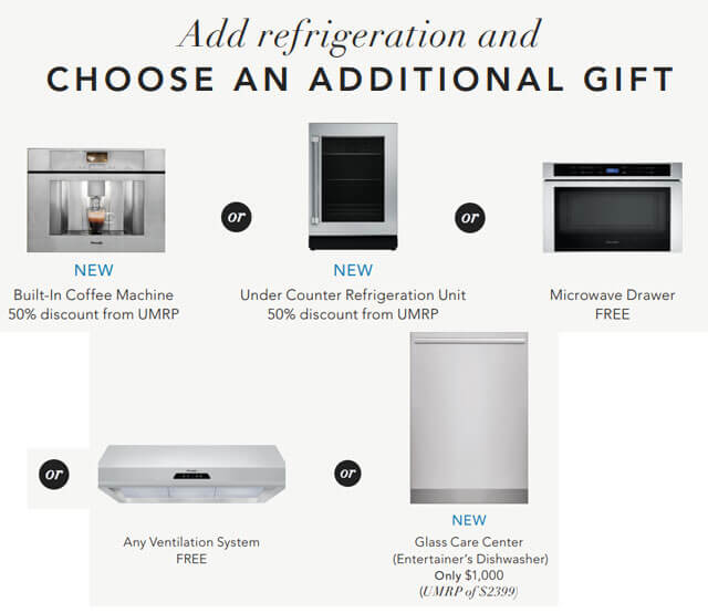 Add refrigeration and choose an additional gift
