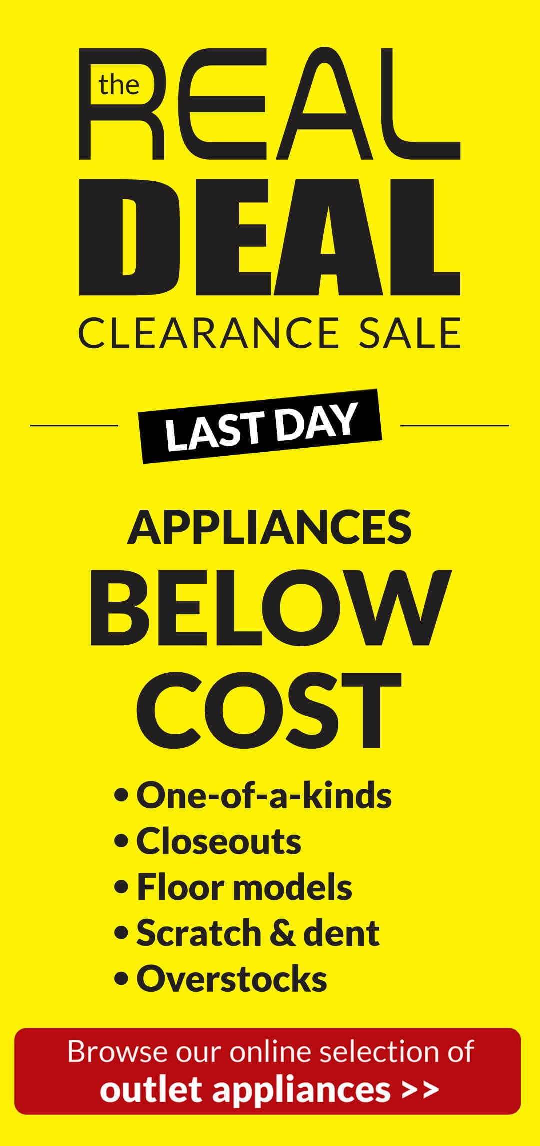 Real Deal Appliance Sale - Extended