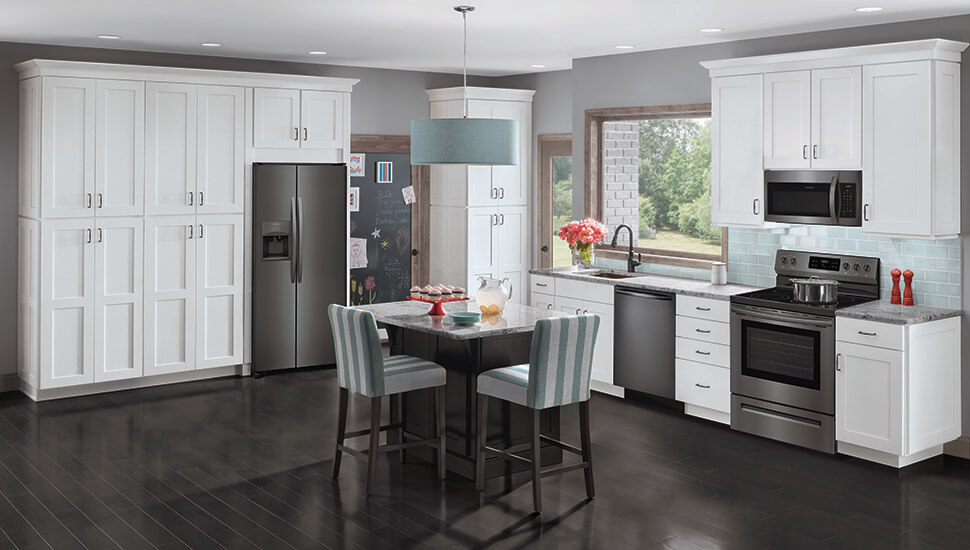Kitchen with Black Stainless Steel Frigidaire Gallery Appliances