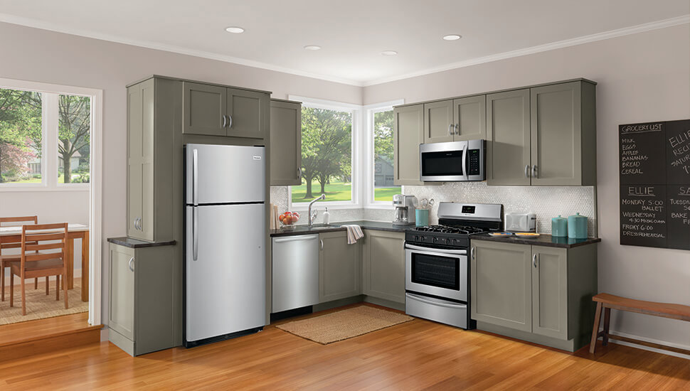 Kitchen with Frigidaire Stainless Steel Appliances