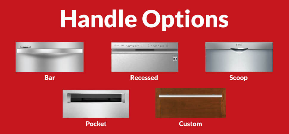 dishwasher handle options