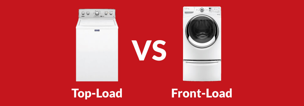 top load washer next to front load washer
