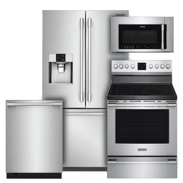 Frigidaire Professional Kitchen Packages 4 PC PKG (FPBS2778UF-E): 26.7 Cu. Ft. Refrigerator, Electric Range, Microwave & Dishwasher For Sale At Warners' Stellian