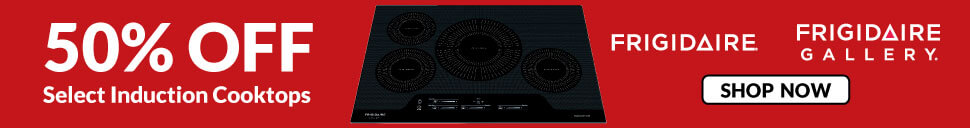 50% off select induction cooktops